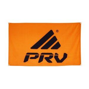 logo + orange background