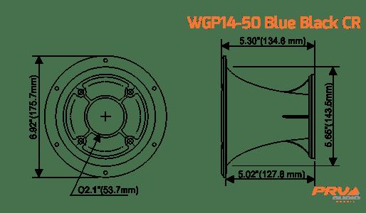 WGP14-50 BLUE BLACK CR