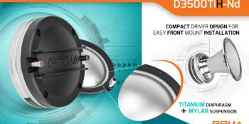 "New Release: D3500TiH-Nd - 2"" Exit Titanium Hybrid Compression Driver-Neodymium"