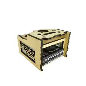 Radio-Box-2EQ-Acrylic---Front-Right-View-+-EQ