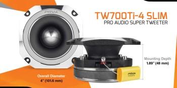 New Release: TW700Ti-4 Slim - PRO Audio Bullet Super Tweeter