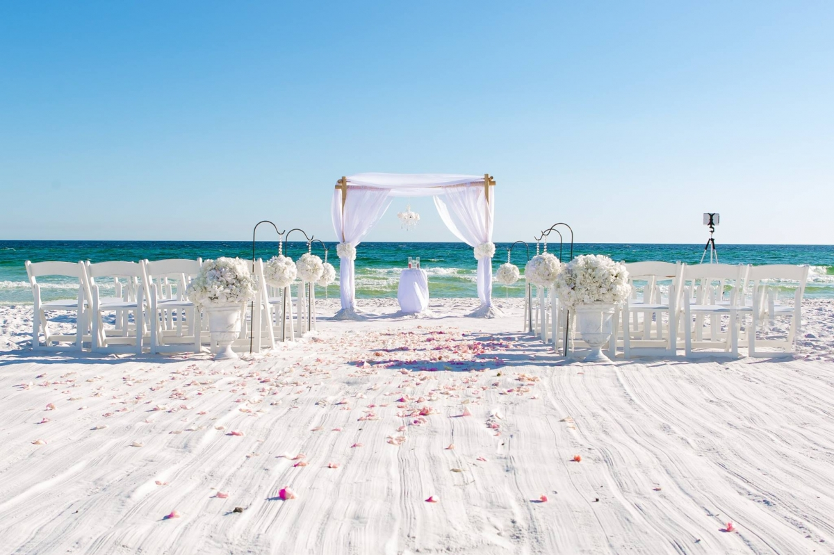 Real Destin Beach Wedding and Reception Mickela and