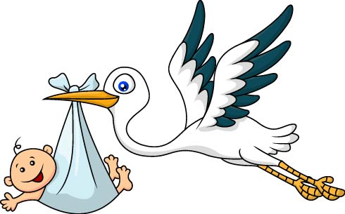 Daily Joke - Stork WIth Baby