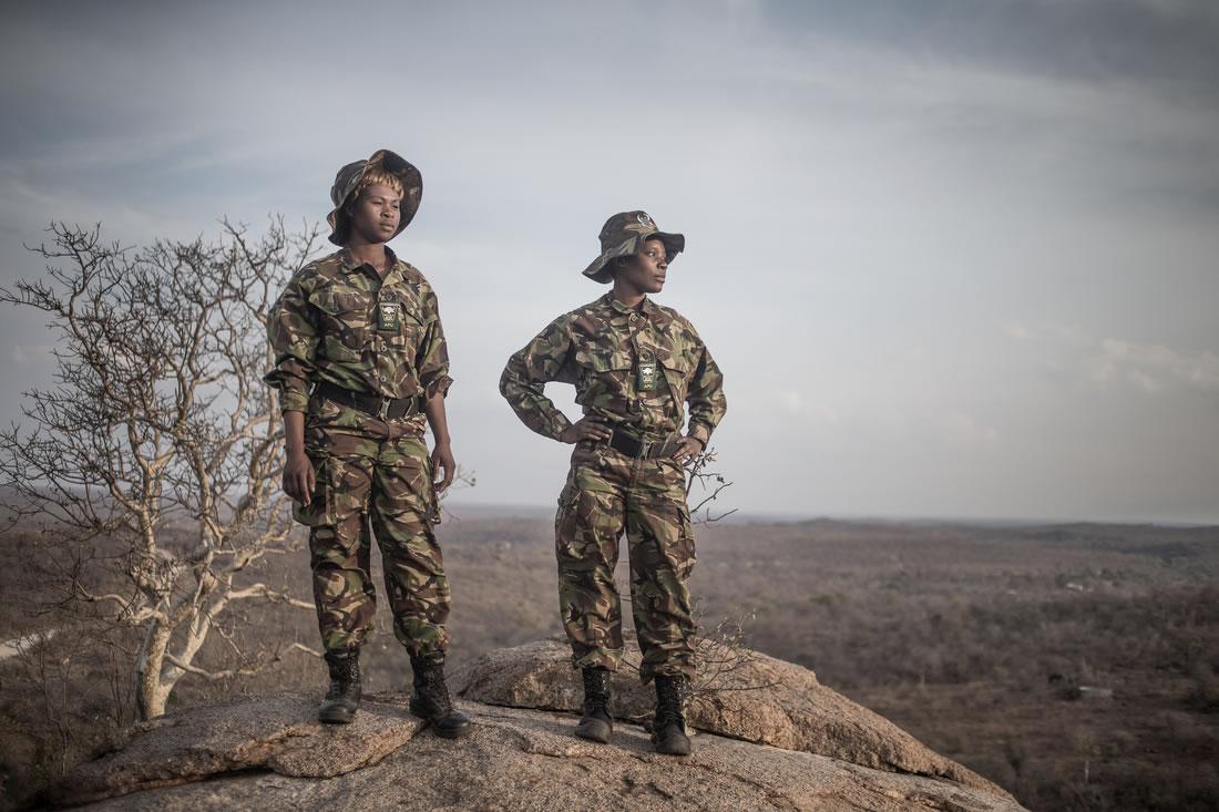 Black Mambas Women Anti-poaching Unit - two-women-standing-facing-forward