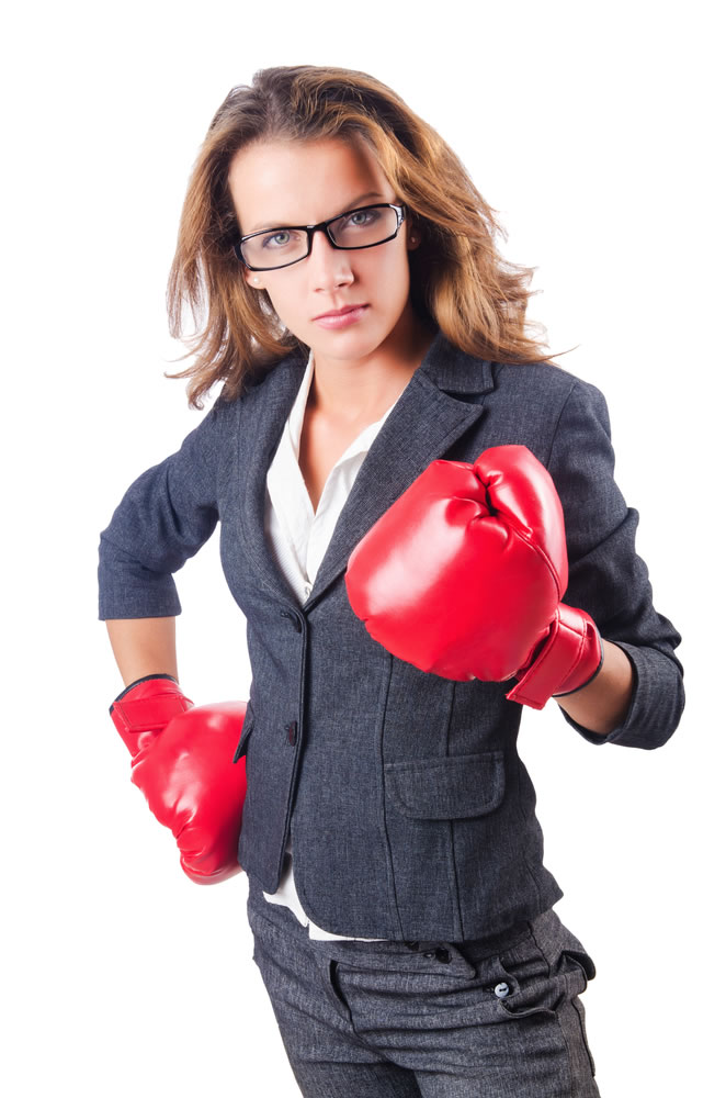 Power - female-business-woman-with-red-boxing-gloves