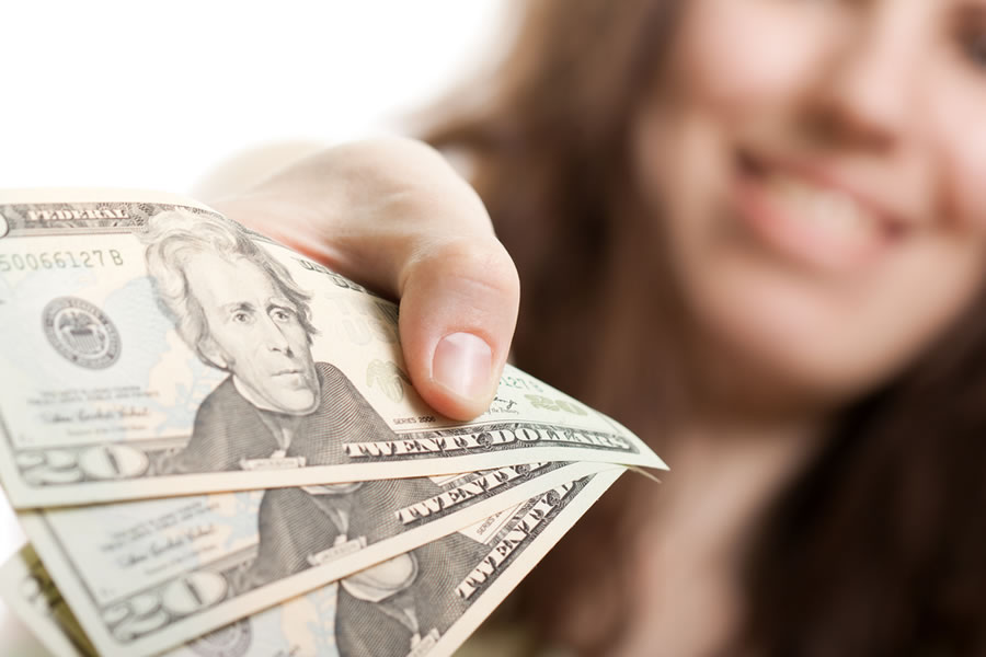 Gender Differences - woman-giving-money-away