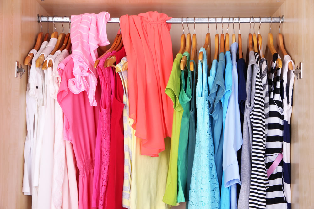 Organized Closet -clothes-organized-by-color