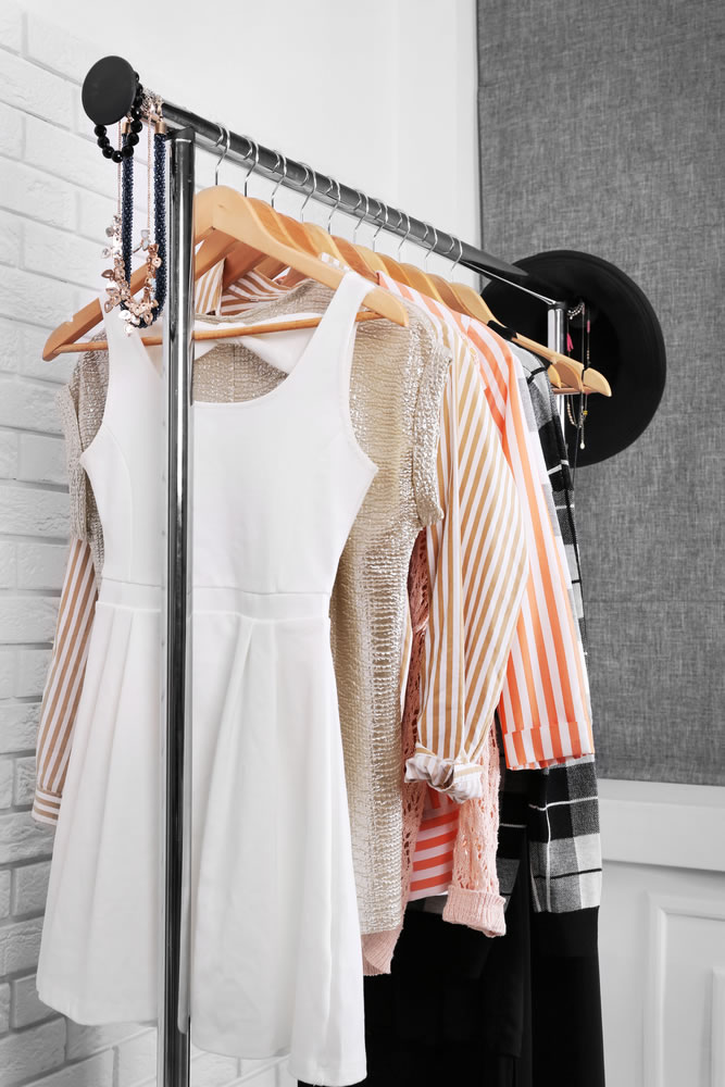 Organized Closet - clothes-rack
