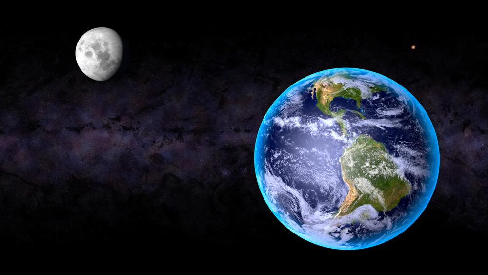 Supermoon - moon-earth