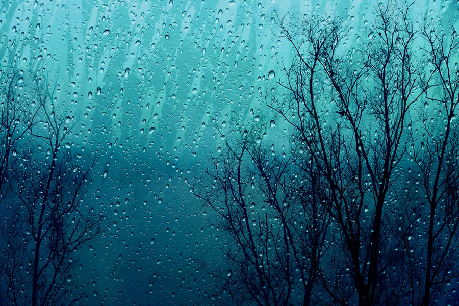Seasonal Affective Disorder - SAD - rain-on-dark-day-in-winter-on-window