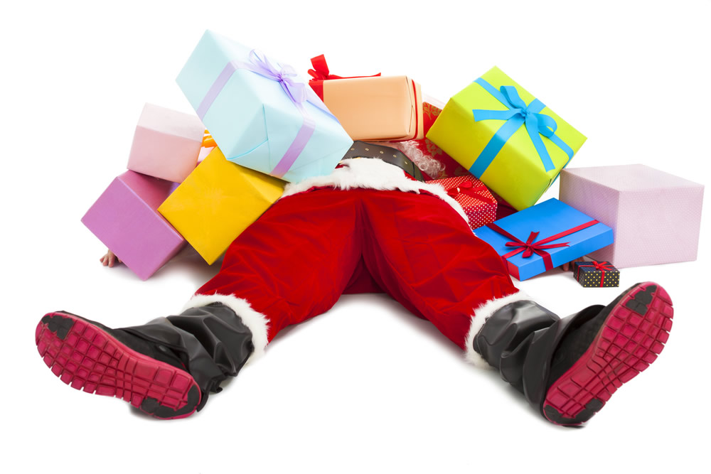 Holiday Grinch - santa-with-presents-on-floor