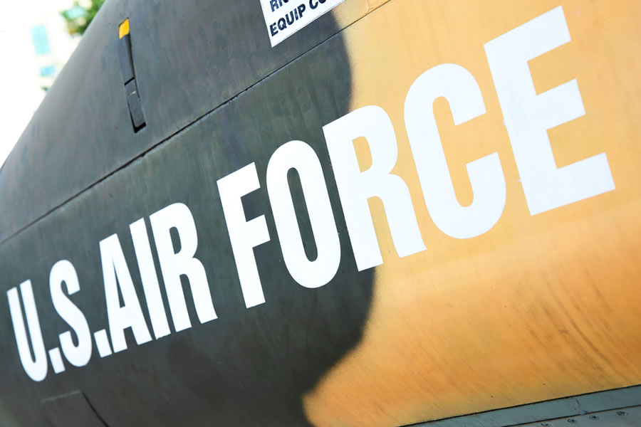 Grit - us-air-force-sign-painted-on-plane