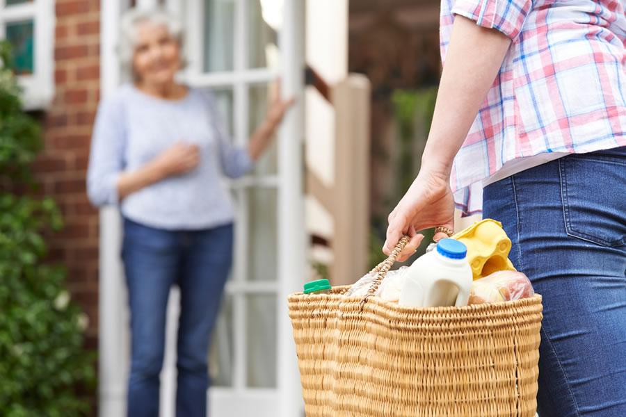 Too Nice - woman-shopping-for-elderly-neighbor