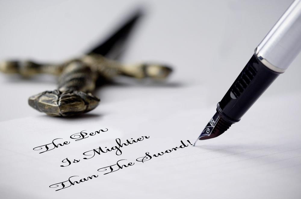 Words Matter - pen is mightier than the sword