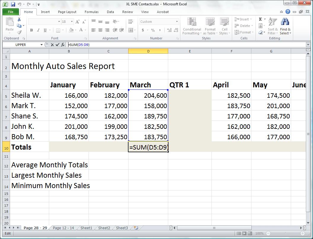 Basic Formula Series The Excel Sum Formula