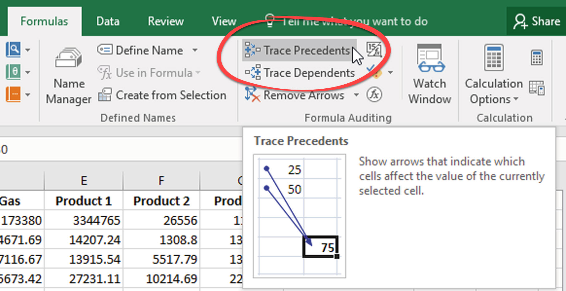 Trace Precedents In Excel Find Formulas Functions And Cells Connected To A Cell