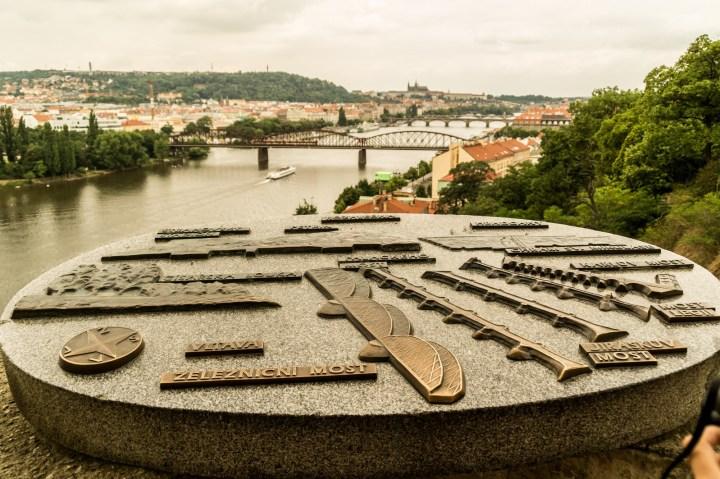 Praga - Wyszehrad, widok na miasto