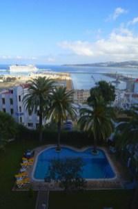 Tanger - widok z naszego hotelu