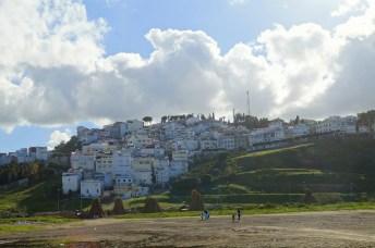 Tanger - widok na osiedla przy dworcu kolejowym