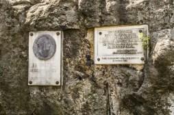 Szczeliniec - tablice pamiątkowe
