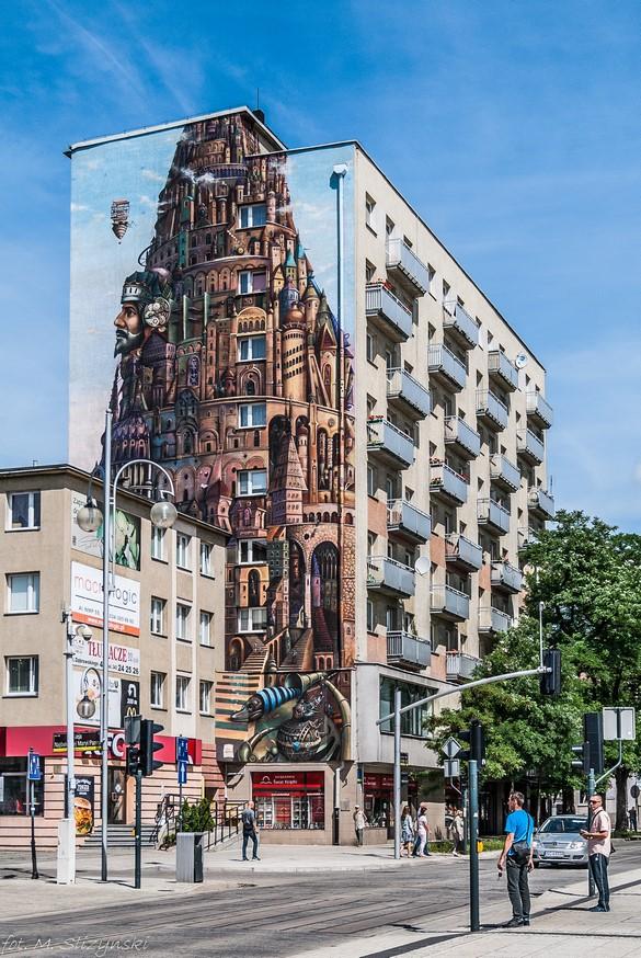 Częstochowa - mural budynek