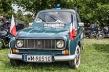 policyjny francuski samochód