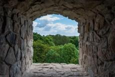 okno ruiny zamku - iłża