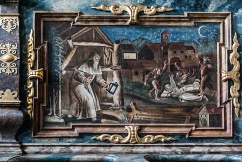 malowidła na drewnianych ramach