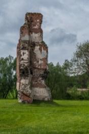 ruiny kawałek muru