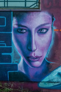 żywiec - graffiti twarz kobiety