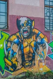 żywiec - street art nad rzeką soła