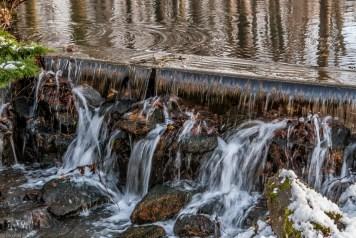 żywiec - park zamkowy wodospad woda