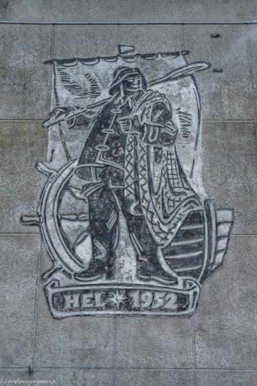 półwysep helski - mural hel 1952