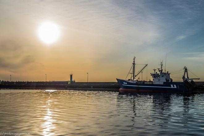 półwysep helski - port rybacki o świcie władysławowo