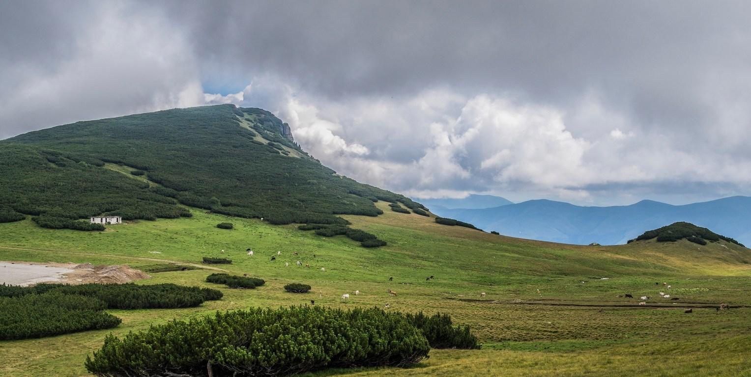 góry bucegi - górski krajobraz w rumunii