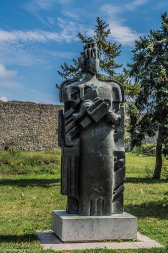 Kalemegdan pomnik w parku belgrad