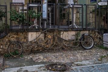 Belgrad ulica Skadarska rower serbia