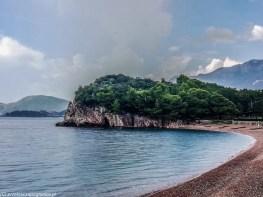 Plaża przy wyspie św. Stefana