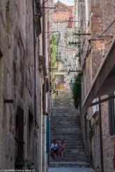 uliczka schody para - z dubrownika do mostaru