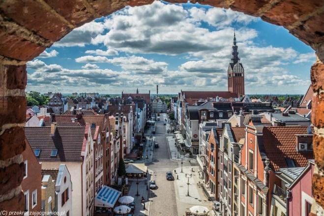 elbląg - brama targowa panorama