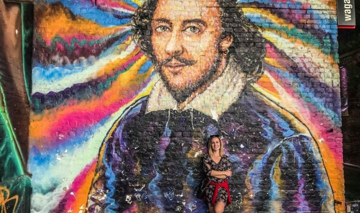 Mural Williama Shakespeare'a londyn - spacer wzdłuż tamizy