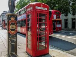 londyn budka telefoniczna piętrowy autobus