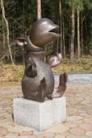 instalacja w parku rzeźb w billund