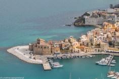 Castellammare del Golfo - widok na zamek arabsko-normandzki