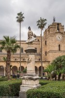 monreale - widok na Katedrę z placu Vittorio Emanuele II