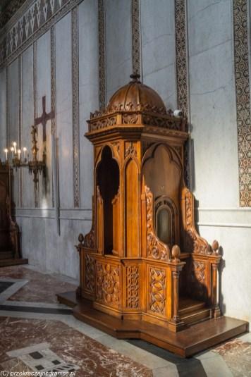 Monreale - konfesjonał w Katedrze