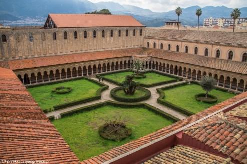 Monreale - krużganki klasztoru przy Katedrze
