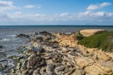 saliny - marsala skaliste wybrzeże bunkier sycylia