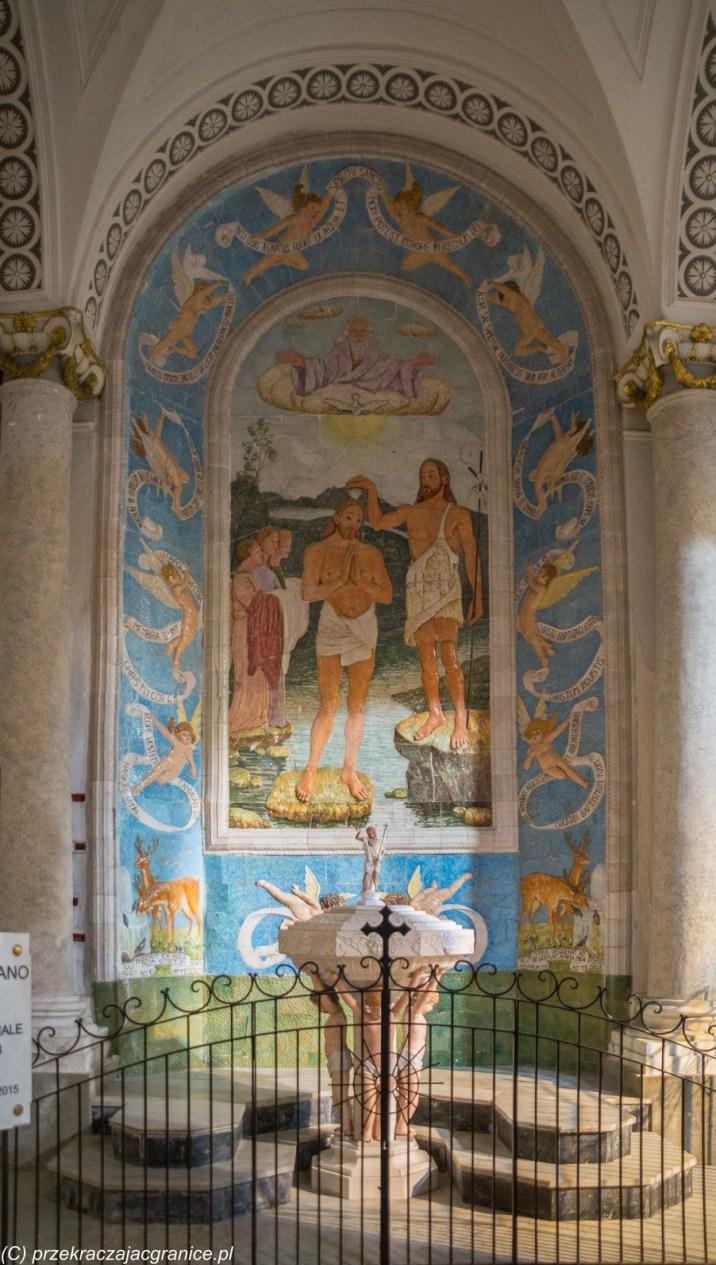 malowidło naścienne chrzest