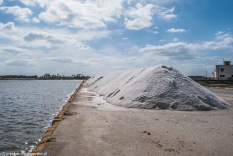 Saliny - hałdy soli